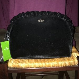 New with tags Kate Spade velvet clutch.